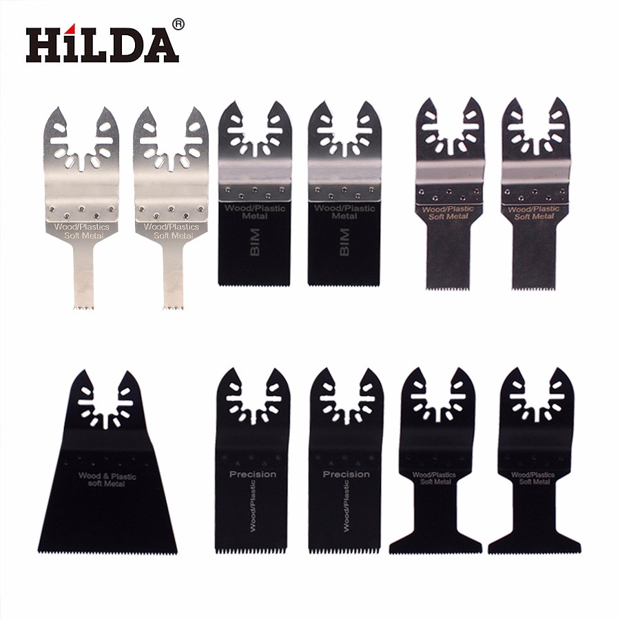 HILDA 11pcs/set Oscillating Tool Saw Blade Accessories Fit For Multimaster Power Tools For Fein,Dremel,oscillating Saw