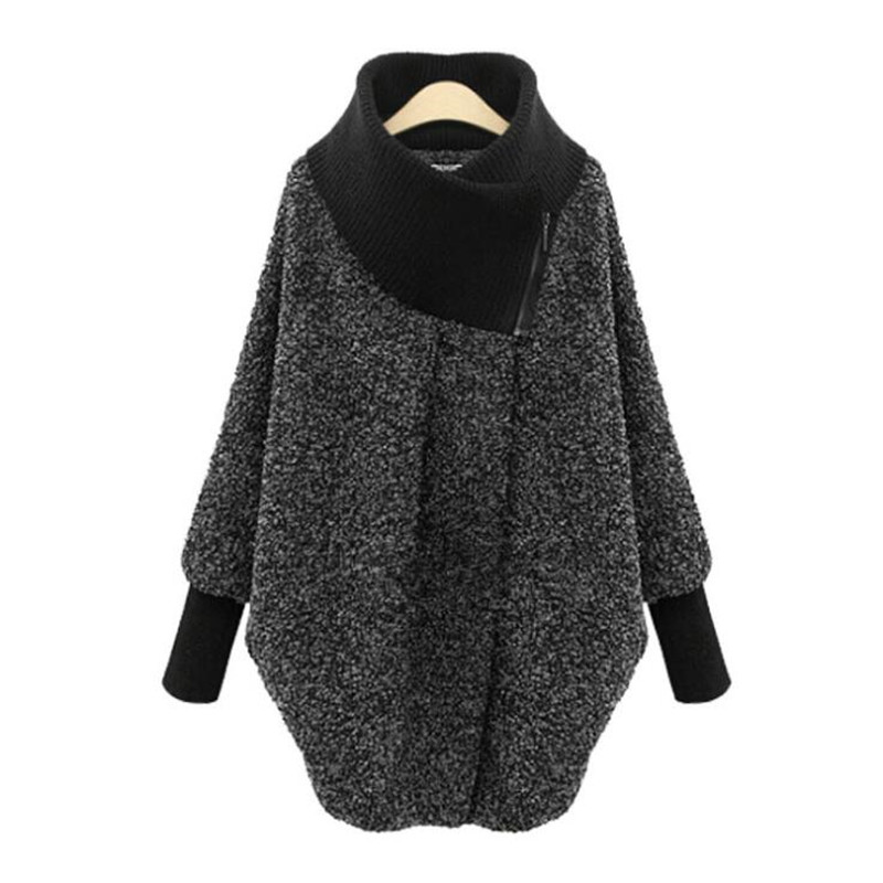 Hot new 2019 winter women s high collar loose woolen Coat