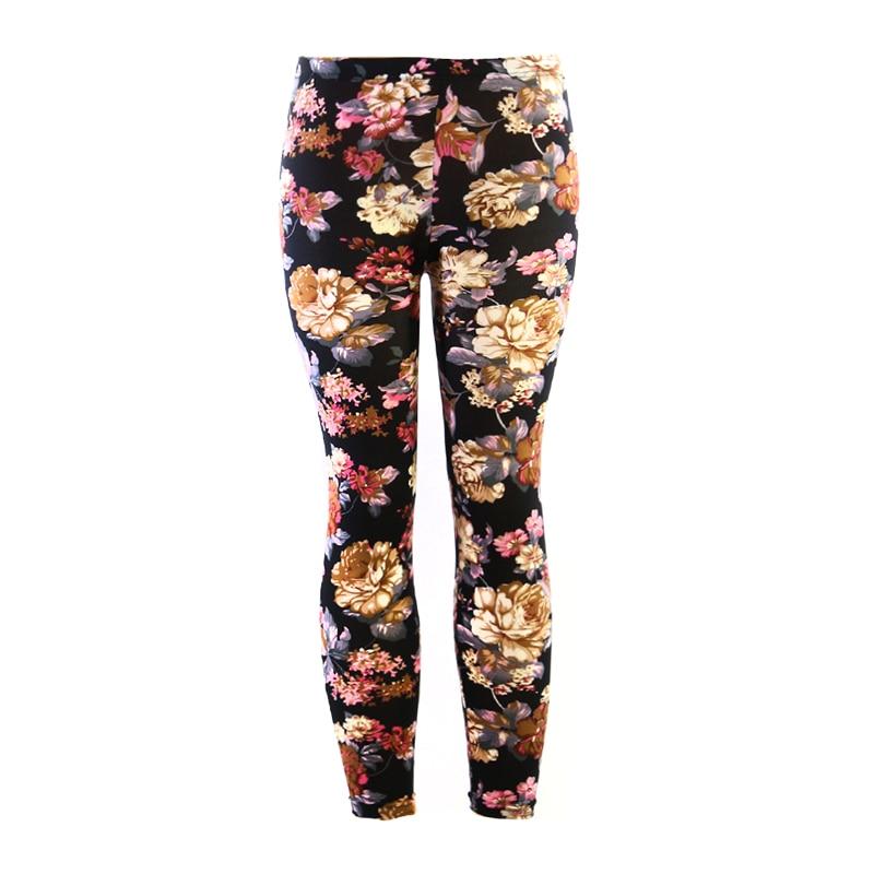 2017 New Women's   Leggings   High Street Cotton Leggin High Waist Slim Woman Pants Digital Print Floral Trousers Stretch Pant