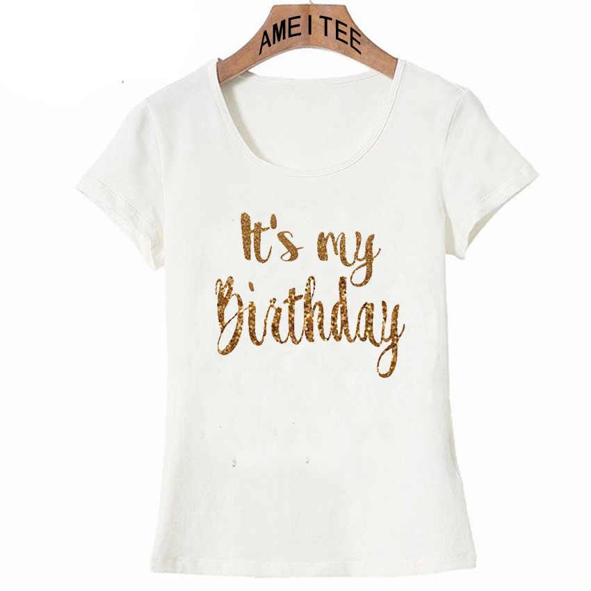 新夏のファッションの女性 Tシャツそれは私の誕生日の手紙プリント tシャツカジュアル Tシャツヒップスターレディースホワイトトップス