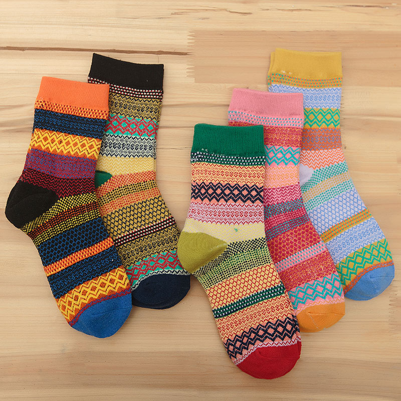 New Winter Fashion Ladies Warm Cotton Socks Women 5 Pairs Harajuku