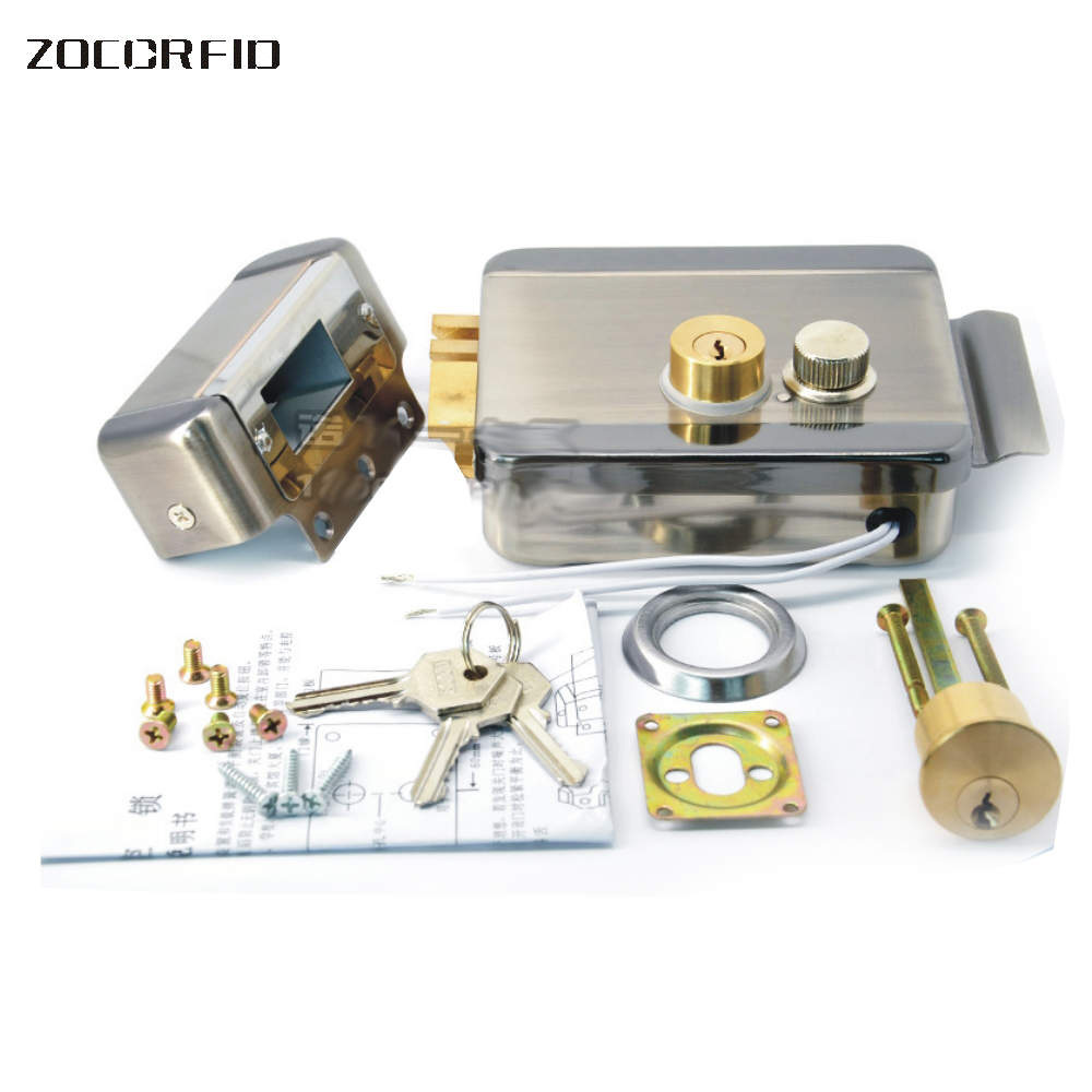 DC-12V Electric lock iron gate access control machine access control access control electrolock iron gate electronic lock t handle vending machine pop up tubular cylinder lock w 3 keys vendo vending machine lock serving coffee drink and so on