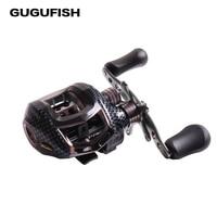 GUGUFISH Water Drop Wheel 12BBs Ball Bearings Left Right Hand Fishing Reel High Speed Baitcasting Carretilha