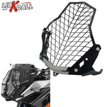 LJBKOALL 1290 Super Adventure Headlight Head Lamp Light Grille Guard Cover Protector For KTM 1190 ADV R Black