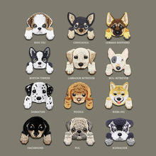 1Pcs Iron on Patches Cute Puppy Animal Embroidered Stickers for Clothes Badges Dog Patch Decorations Jeans