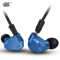 100 Original KZ ZS5 2DD 2BA Hybrid In Ear Earphone HIFI DJ Monito Running Sport Earphones