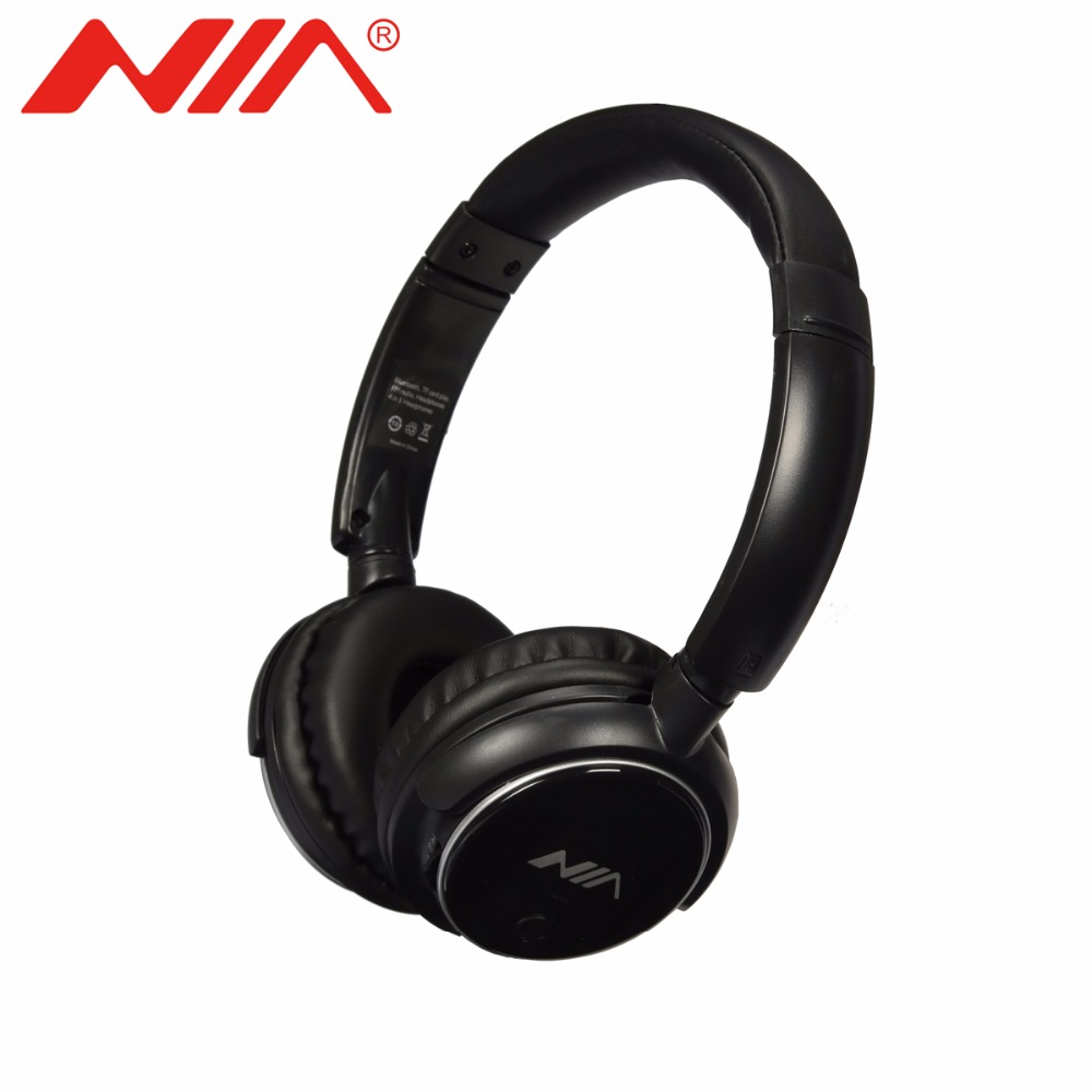 NIA Q1 Original EQ Bluetooth Headphone Wireless Sport Headsets Adjustable Bluetooth Earphone with Mic Support TF Card Play ...
