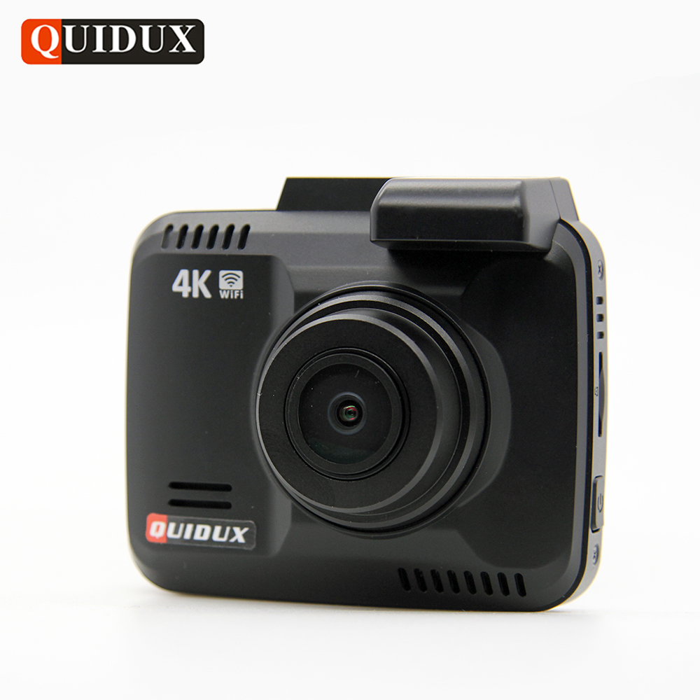 QUIDUX 4K Resolution Super HD Car DVR 2160P Video Recorder GPS Logger Novatek 96660 Camcorder 1080P Dashcam Camera Night Vision
