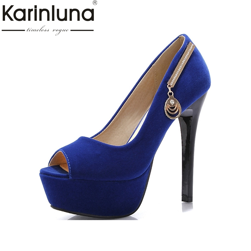 Pumps Women Casual Party Wedding Shoes 2016 Hot Sale Women Shoes Sexy Peep Toe Platform Shoes For Lady Crystal Thin High Heels hot sale square toe full genuine leather charm design platform women pumps platform fashion casual party shoes ladies shoes