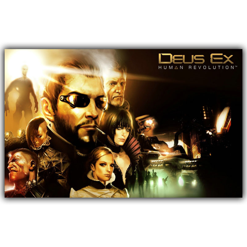 Deus Ex IV V La Humanidad Dividido 3'Size Tela De Seda Cartel de la Lona Impresi