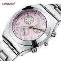 Longbo marca mujeres se visten de cuarzo relojes de pulsera señoras famosa marca de lujo de reloj de cuarzo relogio feminino montre femme 8399