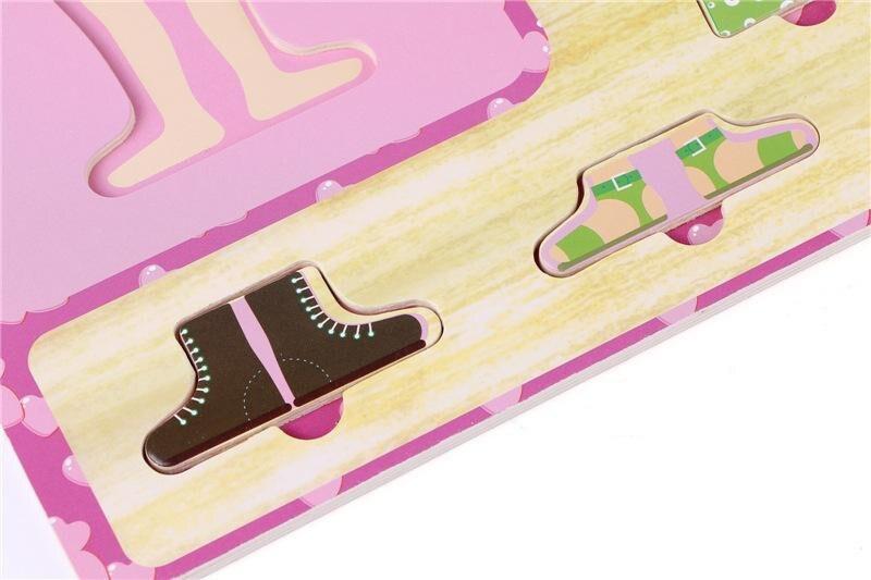 Детские игрушки для мальчиков/платье для девочек изменение Головоломка Набор деревянные игрушки ребенок eduactional туалетный jigsawv головоломки ...