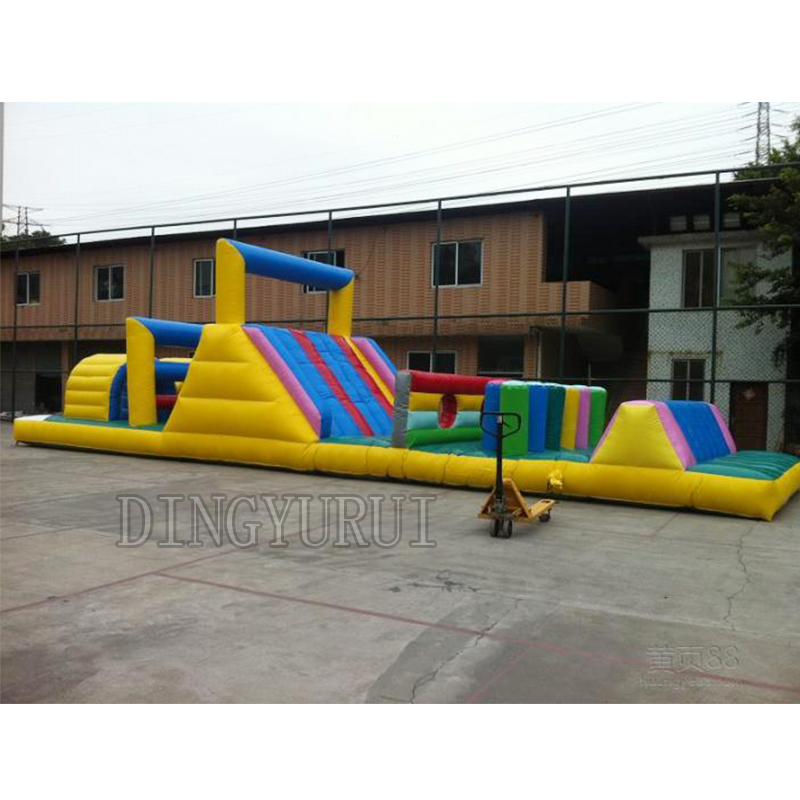 2016 commercial PVC inflatable obstacle course inflatable slide,jumping bouncer for sale  inflatable sport game slide for kids