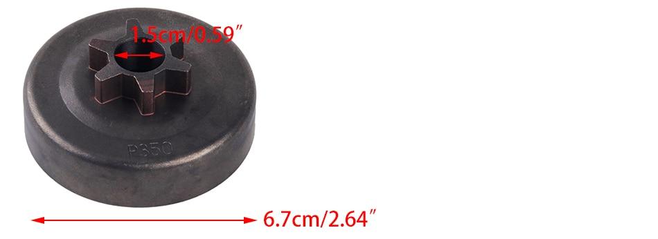 LETAOSK барабан сцепления 3/8 6T Звездочка для партнер 350 351 352 370 371 390 420 бензопила