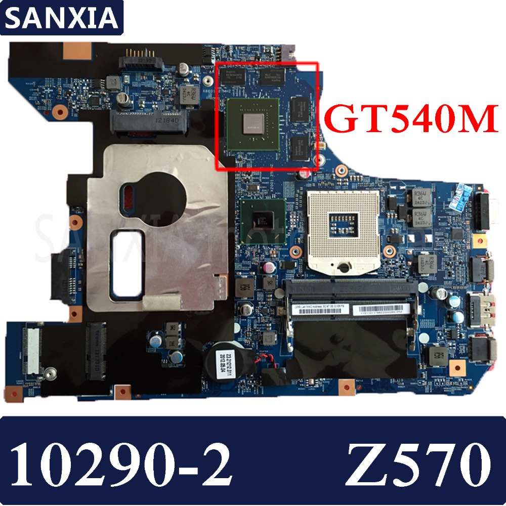 KEFU 10290-2 Laptop motherboard for Lenovo Z570 Test original mainboard GT540M Graphics card foot sequins slip on plimsolls
