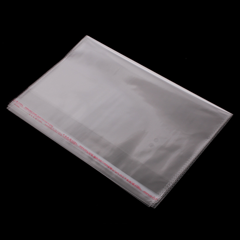 20PCS/LOT Thicken Transparent OPP Self Adhesive Seal Bag Poly Bags Accessories Packing Bag Ziplock 10 Wire 30*44CM