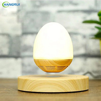 HANGRUI Bluetooth Speaker Wireless Loudspeaker Led Bulb Levitating Bluetooth Speaker Base Floating Maglev Speaker For Smartphone
