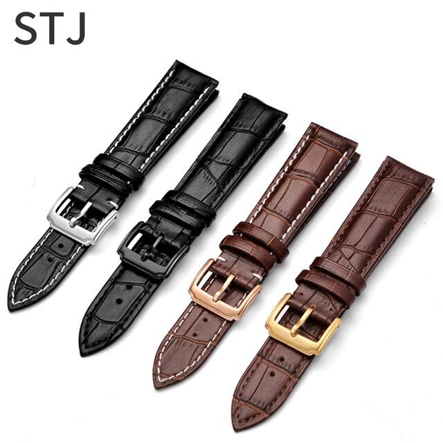 STJ dana derisi deri watch band 18mm 19mm 20mm 21mm 22mm 24mm kadın erkek askısı tissot Seiko saat kayışı aksesuarları bileklik