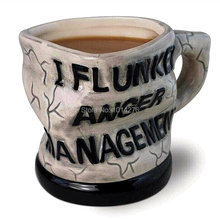 Funny 12oz I Flunked Anger Management Mug Distorted Ceramic Mug Coffee Cup Novelty Drinkware Gift