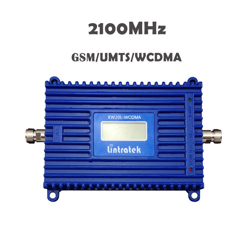 Amplificateur de Signal Lintratek 2019 3G WCDMA 2100mhz 3G répéteur de Signal 70 dB amplificateur de téléphone portable UMTS à Gain élevé avec écran LCD #18