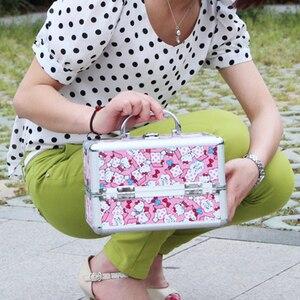 Image 5 - جديد يشكلون صندوق تخزين لطيف ماكياج التجميل المنظم صندوق مجوهرات النساء المنظم للسفر صندوق تخزين es حقيبة حقيبة