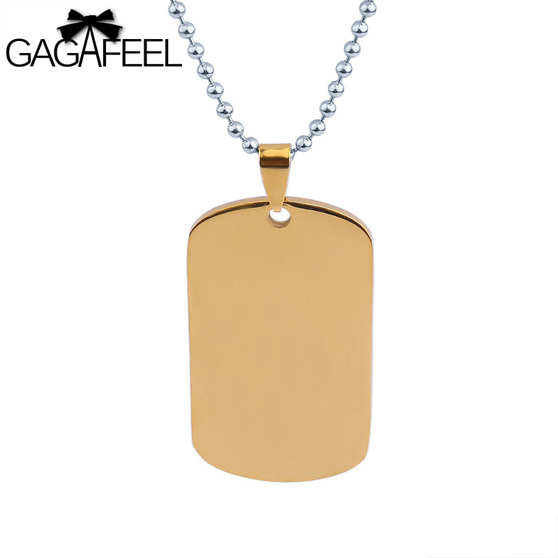 d66e9d47be GAGAFFEL Custom Military Tag Laser Engrave Dog Cards Necklace For Men Women  Lovers Unique Army Pendant Stainless Steel Jewelry