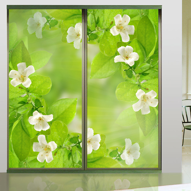 Wardrobe Sliding Door Window Landscape Decorative Waterproof