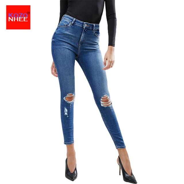 Strappati Donna Skinny Jeans Strappati Jeans Donna Strappati Jeans Donna Skinny nwPNOk80XZ