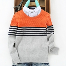 100% Cotton Children Boys Sweater Fashion Fake collar England Style Knitwear Pullover baby boys Sweaters Kids clothing