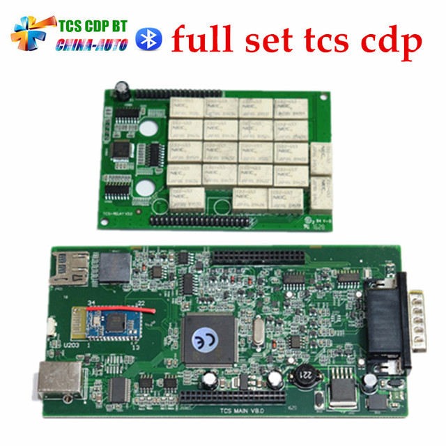 Green PCB board ! New tcs cdp pro with bluetooth V 2015.R1 or 2014.R2 cars trucks diagnostic tool working better than tcs cdp
