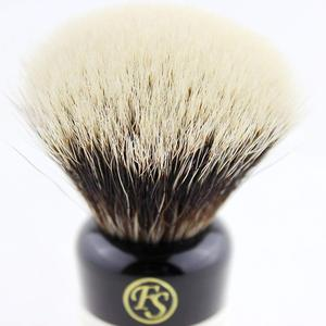 "Image 5 - ""Fs"" 24 Mm Fan Vorm Manchurian Finest Badger Scheerkwast Zwart & Wit Handvat + Gratis Stand + Gratis Verzending"