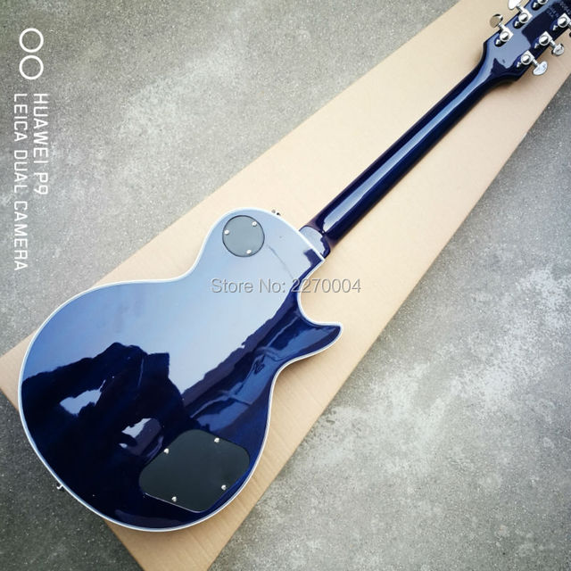 Customized dark blue, wavy, left-handed LP electric guitar, good sound, guitar soundtrack, free shipping in 1959 5