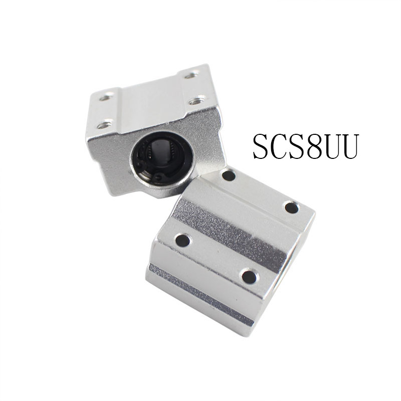 4pcs 3D Printer Accessories Linear Motion Ball Bearings Slide Block Bushing For SCS8UU 8mm Linear Ball Bearing Block CNC Router scv60uu 60 mm linear motion ball bearing slide unit bushing