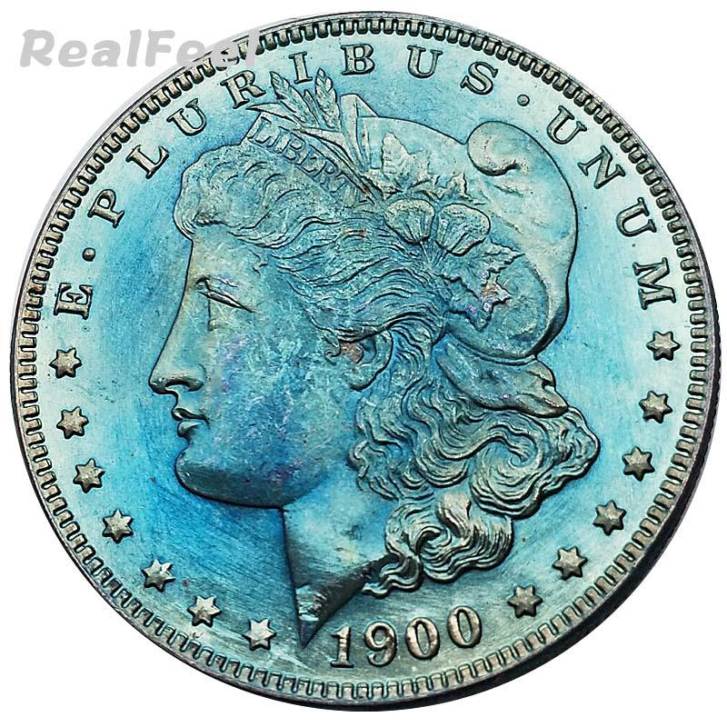 1900 US 90% high quality antique silver dollar replica decoration liberty Morgan 1 dollar old copy collectible coins all version