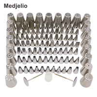 Medjelio 110Pcs Cake Decorating Tools Icing Piping Nozzle Tips Russian Kitchen Baking Pastry Tools 2 Pastry