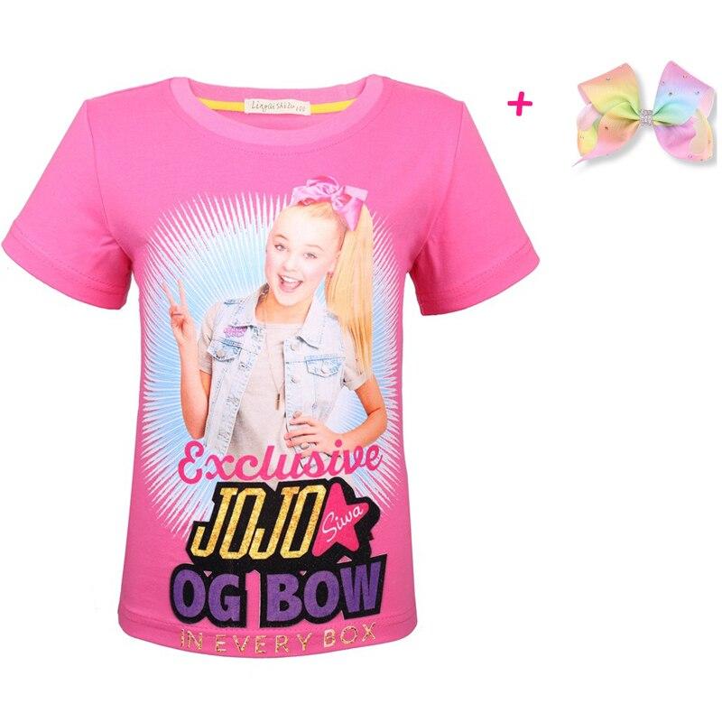 T-Shirt Kids Jojo Siwa Moana Little-Girls Cartoon Children Short-Sleeve Cotton Summer