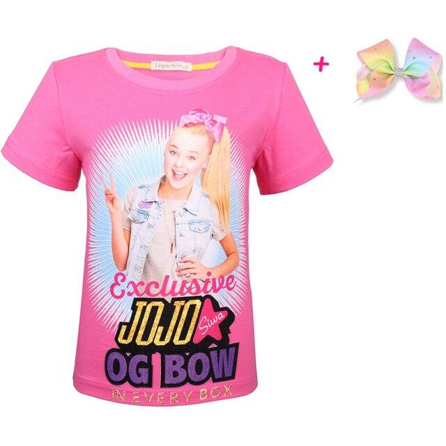 ac00ce218b6f0 US $4.94 25% OFF|2019 New Children Summer my little girls Clothes jojo siwa  Clothing Short Sleeve moana T shirt Kids Cartoon Cotton Tshirt Tees-in ...