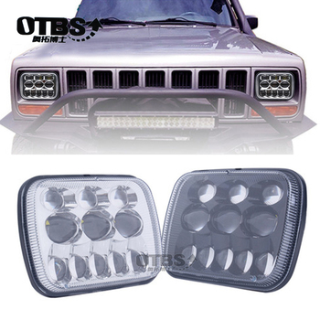"""OTBS 69W Led Headlights 5X7"""" 6X7 Inch Led 4X4 Car headlamp For Jeep Cherokee XJ Trucks Offroad"""