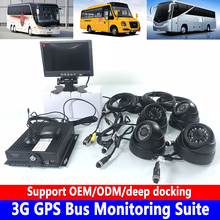 AHD HD 4-channel coaxial SD card storage monitoring system host 3G GPS bus monitoring kit Heavy machinery / concrete truck