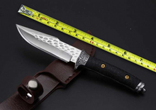 Small Size Handmade 7Cr13Mov Blade G10 Handle Forging Fixed Knives, Tactical Survival Knife,Hunting Knife.