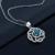 Gemstoneking das mulheres 925 prata esterlina jóias finas 2.61 ct rodada cur natural londres topázio azul pingente de colar