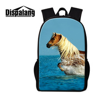 Dispalang Children School Backpacks For Elementary Student Horse Animal Print Schoolbags For Teenage Girls Bookbag Kids
