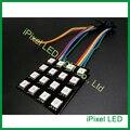 Mini flexible display led dot matrix 4x4 com SK9822