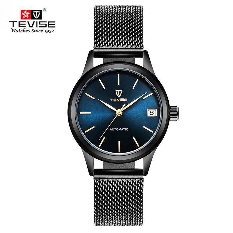 TEVISE New 2107 Top Fashion Dress Women Watches Skeleton Automatic Mechanical Watch Famous Clock Montre femme Relogio Feminino купить бу двигатель на ваз 2107 инжектор