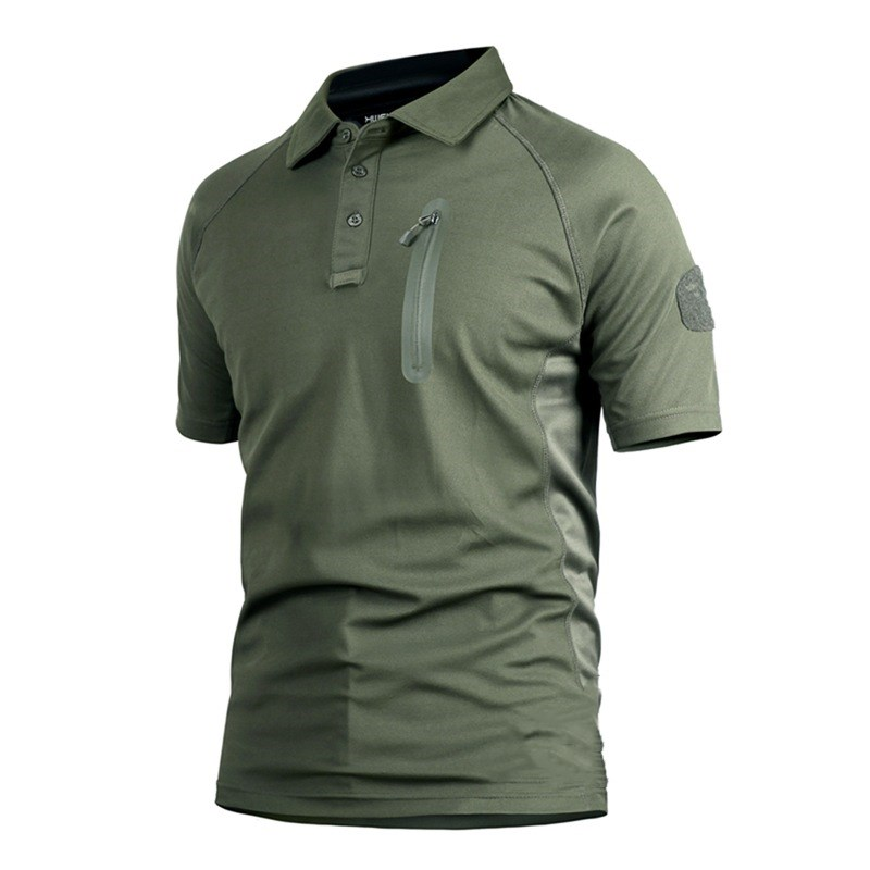Polo   Shirt Men Casual Quick Dry Breathable Short Sleeve Brands Tactical Combat   POLOs   Shirt Streetwear militare Male Clothing