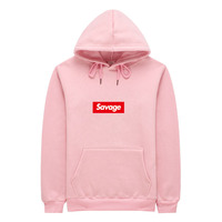 2017 New 21 Savage Hoodies Man Parody No Heart X Savage 1 1 Letter Print Hoodie