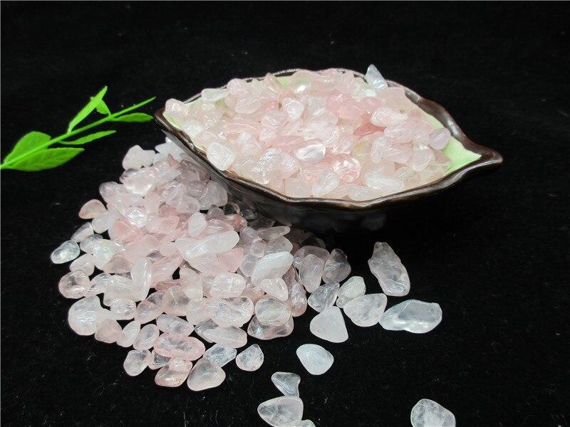 En gros naturel rose cristal cristal pierre gravier spécimen Aquarium gravier décoration - 3