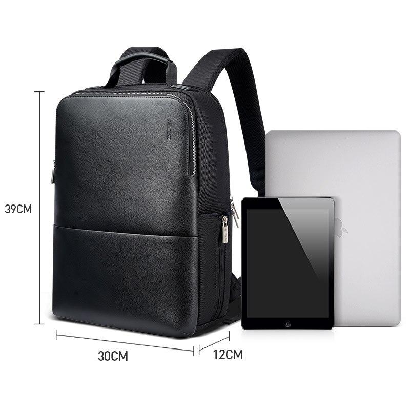 2018 BOPAI Cool hommes sacs à dos homme sac à dos 14 pouces pochette d'ordinateur étudiant cartables hommes voyage en cuir sac à dos sacs noir sac à dos - 6