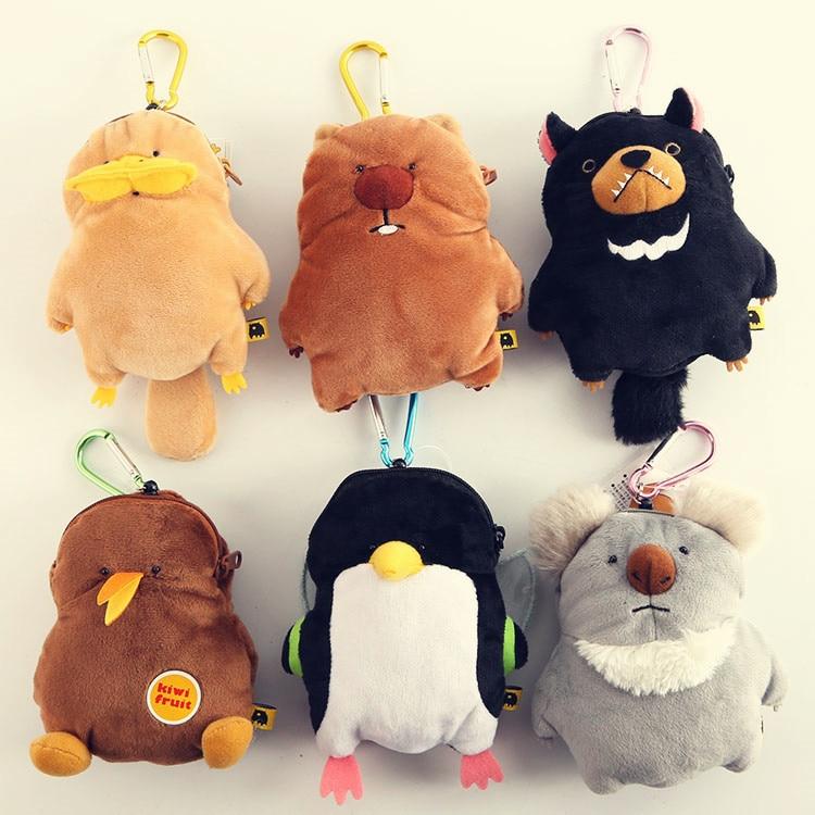 candice guo! cute cartoon Wombat family koala bear platypus penguin plush toy doll bag small coin bag birthday gift 1pc