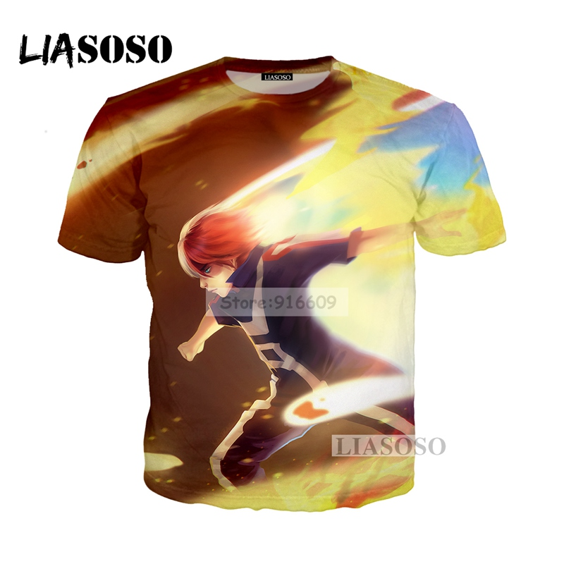 LIASOSO NEW Anime Boku No Hero My Hero Academia Cosplay Tees 3D Print t shirt/Hoodie/Sweatshirt Unisex Good Quality Tops G778